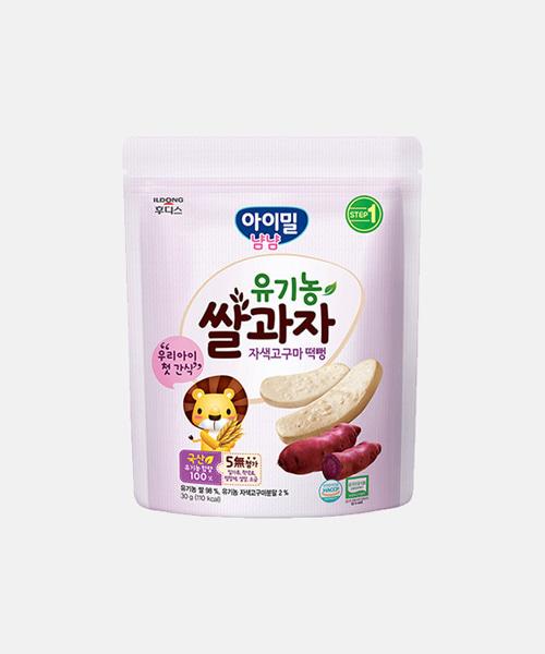 [일동후디스] 유기농 쌀과자 자색고구마 떡뻥(30g)