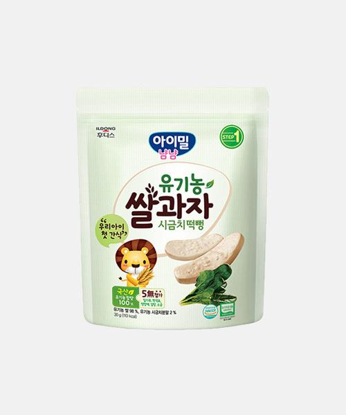 [일동후디스] 유기농 쌀과자 시금치 떡뻥(30g)