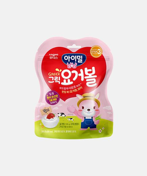 [일동후디스] 그릭요거볼 딸기