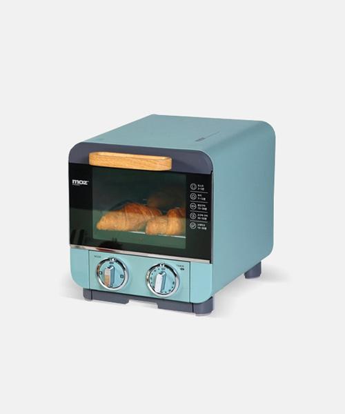 [모즈] 미니 전기오븐 베이킹오븐 전기그릴 DR-1000 bluish green